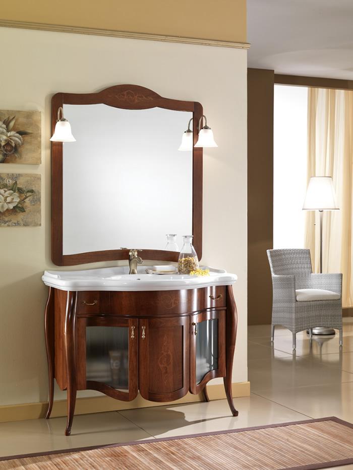 Mobile bagno classico charme vetro - Mobili per bagni classici ...