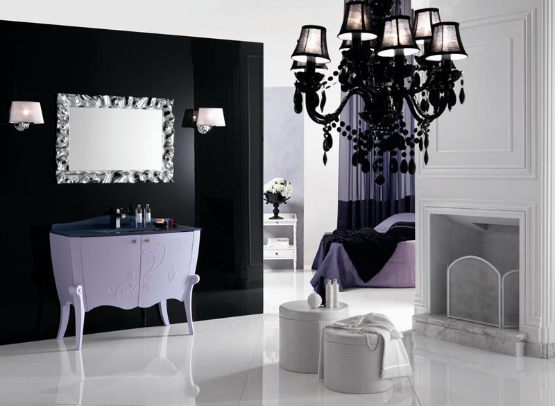 Arredo bagno classico margot 10 - Arredo bagno viola ...