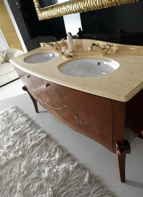 Mobile bagno classico margot 2 - Arredo bagno viola ...