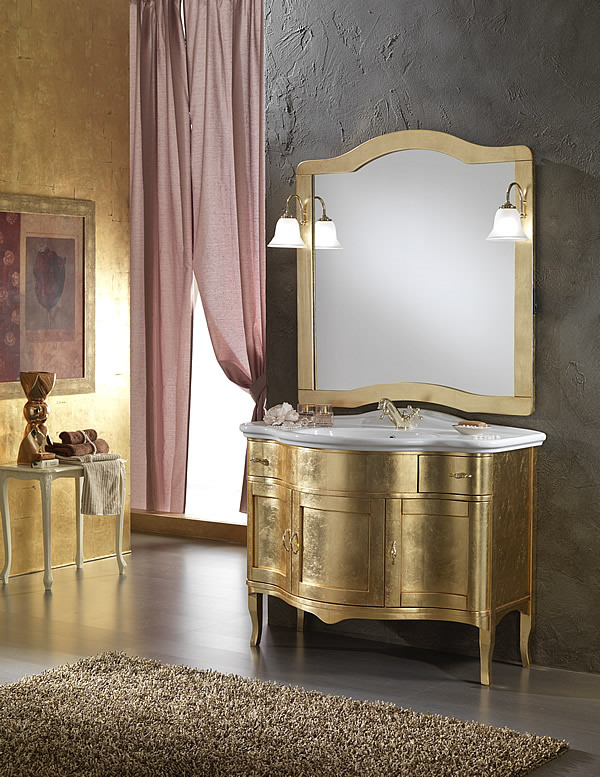 mobili bagno classico zenith foglia oro - Mobili Arredo Bagno Classici Prezzi