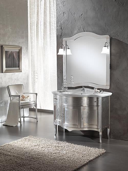 Mobili bagno classico zenith foglia argento - Arredo bagno arezzo e provincia ...