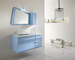 Celeste nuvola nel tuo mobile da bagno moderno for Arredo bagno viola