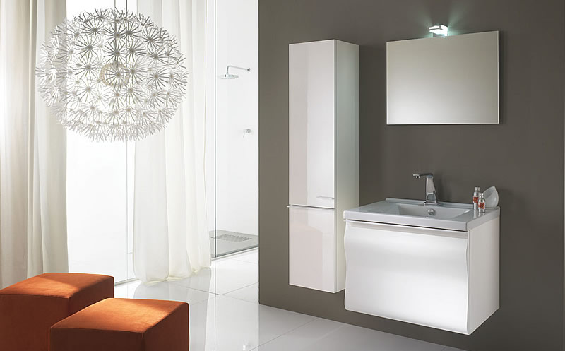 Gliss 70 composizione 9 mobile bagno moderno - Misure mobili bagno ...