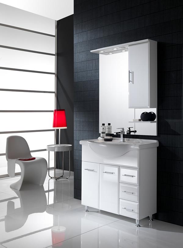 Il miglior rivestimento per il bagno moderno for Arredo bagno viola