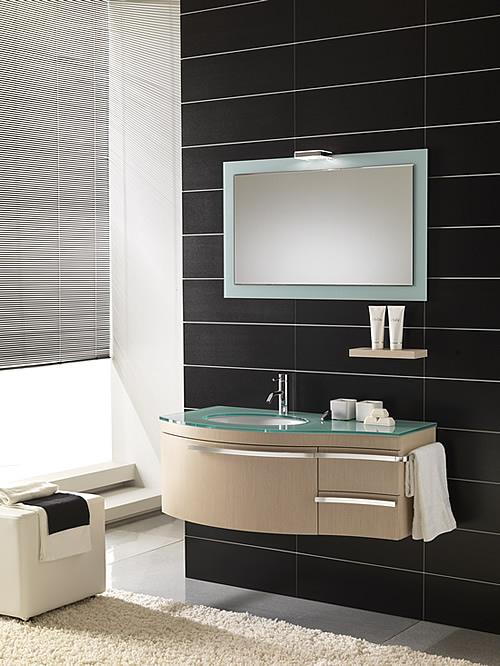Le foto dell 39 arredo bagno moderno romantic - Mobili per bagno moderni sospesi ...